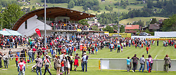 28.05.2012, Sportplatz Golm FC Schruns, Schruns, AUT, UEFA EURO 2012, Trainingslager, Spanien, im Bild Fan rush to the training of the Spanish National team in Schruns of Spain during of Spanish National Footballteam for preparation UEFA EURO 2012 at Sportplatz Golm FC Schruns, Schruns, Austria on 2012/05/28. EXPA Pictures © 2012, PhotoCredit: EXPA/ Peter Rinderer