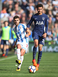 Tommy Smith of Huddersfield Town (L) and Dele Alli of Tottenham Hotspur in action - Mandatory by-line: Jack Phillips/JMP - 30/09/2017 - FOOTBALL - The John Smith's Stadium - Huddersfield, England - Huddersfield Town v Tottenham Hotspur - English Premier League