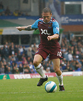 Photo: Steve Bond.<br />Birmingham City v West Ham United. The FA Barclays Premiership. 18/08/2007. Craig Bellamy lines up to shoot