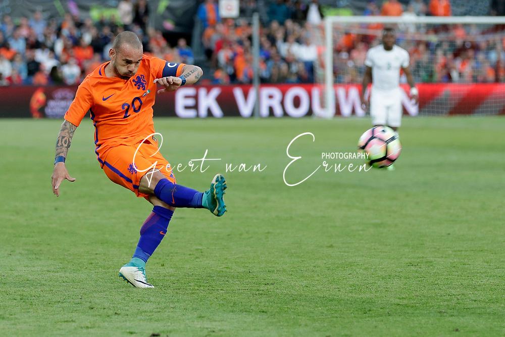 04-06-2017 VOETBAL:NEDERLAND-IVOORKUST:ROTTERDAM<br /> Oranje oefende tegen Ivoorkust vanavond in De Kuip<br /> <br /> Wesley Sneijder van Oranje (Galatasaray) <br /> <br /> Foto: Geert van Erven
