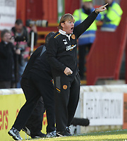 Football - Scottish Premier League - Motherwell vs Celtic<br /> <br /> Stuart McCall the Motherwell manager reacts during the Motherwell vs Celtic Scottish Premier League match at Fir Park, Motherwell on November 6th 2011<br /> <br /> <br /> Ian MacNicol/Colorsport