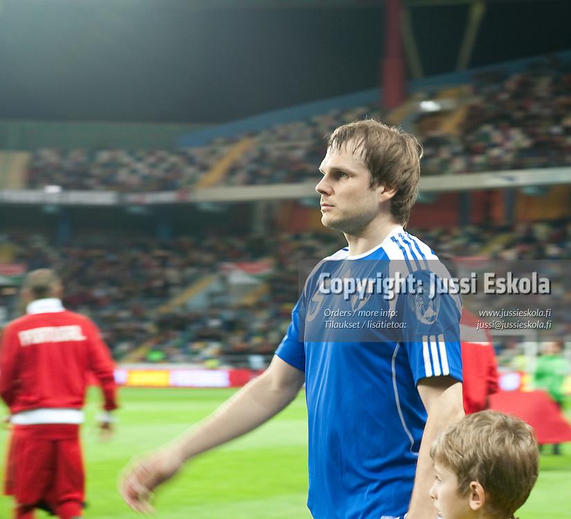 Markus Heikkinen. Portugali - Suomi. A-maaottelu. Aveiro, Portugali 29.3.2011. Photo: Jussi Eskola