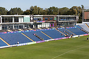View of the Pavilion before the start of Day 2 during the Specsavers County Champ Div 2 match between Glamorgan County Cricket Club and Leicestershire County Cricket Club at the SWALEC Stadium, Cardiff, United Kingdom on 17 September 2019.