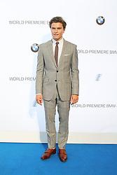 © Licensed to London News Pictures. Oliver Cheshire at the BMW i3 global reveal party, Old Billingsgate Market, London UK, 29 July 2013. Photo Credit:  Richard Goldschmidt/LNP