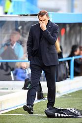 """Foto LaPresse/Filippo Rubin<br /> 16/03/2019 Ferrara (Italia)<br /> Sport Calcio<br /> Spal - Roma - Campionato di calcio Serie A 2018/2019 - Stadio """"Paolo Mazza""""<br /> Nella foto: LEONARDO SEMPLICI (ALLENATORE SPAL)<br /> <br /> Photo LaPresse/Filippo Rubin<br /> March 16, 2019 Ferrara (Italy)<br /> Sport Soccer<br /> Spal vs Roma - Italian Football Championship League A 2018/2019 - """"Paolo Mazza"""" Stadium <br /> In the pic: LEONARDO SEMPLICI (SPAL'S TRAINER)"""