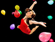 (photo by Matt Roth)..The Collective modern dancer Emily Tankersly is shot at Experimental Movement Concepts Studios in the Hampden neighborhood of Baltimore Sunday January, 21 2007. .Artistic Director: Jessica Fultz. .Balloon assistants: Sonia Synkowski, Martha Reiner,