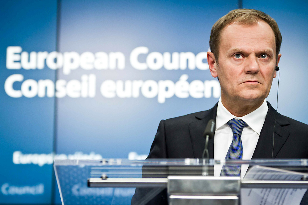 The President of the EU Council said at the press conference that the discussions were about the improvement of the EU economy and the ongoing challenges; but first of all he express his sympathies to the families of the people murdered in Tunis.