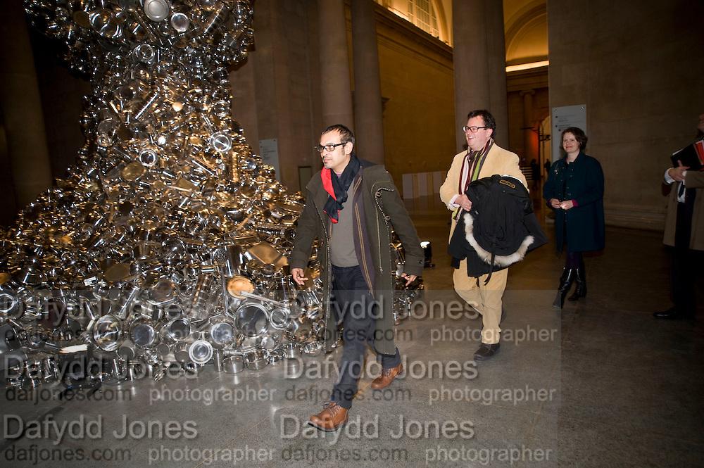 Subodh Gupta; Ivan Wirth, Altermodern, Tate Triennial 2009, Tate Britain. London. 2 February 2009 *** Local Caption *** -DO NOT ARCHIVE-© Copyright Photograph by Dafydd Jones. 248 Clapham Rd. London SW9 0PZ. Tel 0207 820 0771. www.dafjones.com.<br /> Subodh Gupta; Ivan Wirth, Altermodern, Tate Triennial 2009, Tate Britain. London. 2 February 2009