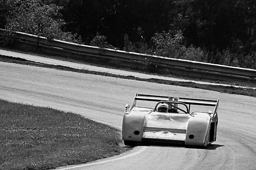 Peter Revson's McLaren M20 during practice for the 1972 Can-Am at Road Atlanta; Photo by Pete Lyons 1972/ © Pete Lyons / petelyons.com;