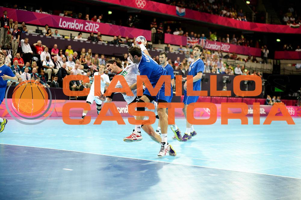 DESCRIZIONE : France Handball Jeux Olympiques Londres GIOCATORE : Nagy Laszlo HUN SQUADRA : Hongrie Homme DATA : 2012-08-02CATEGORIA : SPORT : HandBall AUTORE : AGENZIA CIAMILLO & CASTORIA/G.Ciamillo