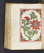 Armenia, Early 16th century. This manuscript is a liturgical psalter for the Armenian church. Canticles from the Old Testament follow each canon. The manuscript includes nine leaves with full-page illuminations of Biblical figures or scenes on one side and full-page illuminations of flowers on the other,