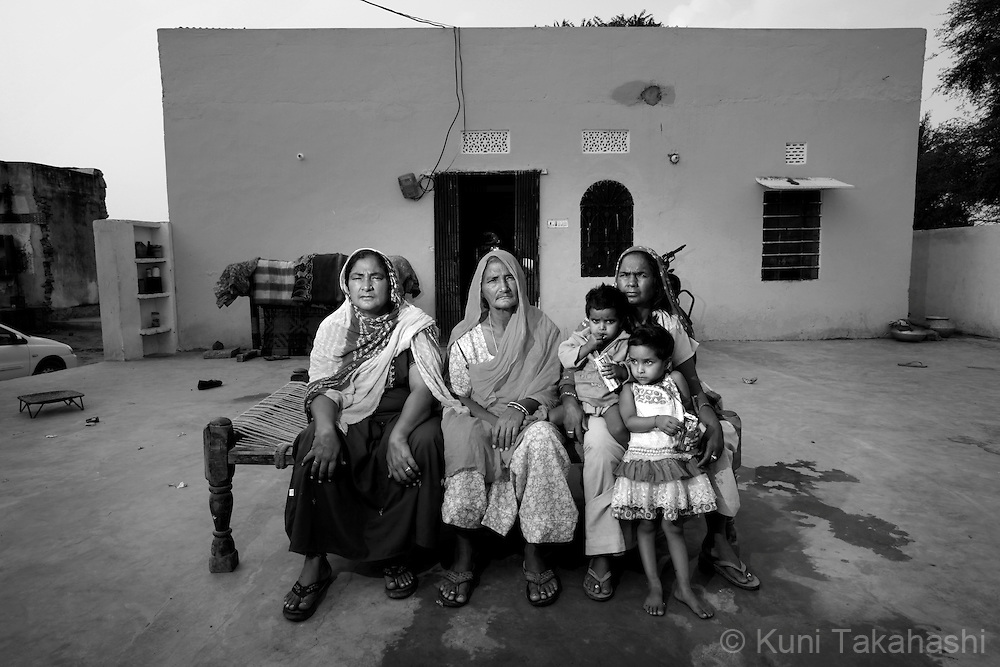 Rama and her sisters pose at their house in Ingonia, 40km north of Jaipul on Nov 16, 2009. Rama and her six sisters, who are all sex workers, helped financially to build the family house. ..