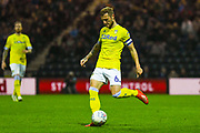Liam Cooper of Leeds United (6) passes the ball during the EFL Sky Bet Championship match between Preston North End and Leeds United at Deepdale, Preston, England on 9 April 2019.