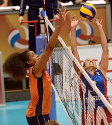 08-08-2014 NED: FIVB Grand Prix Nederland - Puerto Rico, Doetinchem<br /> Celeste Plak, Vilmarie Mojica