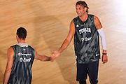 DESCRIZIONE : Bormio Raduno Collegiale Nazionale Maschile Allenamento <br /> GIOCATORE : Matteo Soragna Christian Di Giuliomaria <br /> SQUADRA : Nazionale Italia Uomini <br /> EVENTO : Raduno Collegiale Nazionale Maschile <br /> GARA : <br /> DATA : 21/07/2008 <br /> CATEGORIA : Esultanza Ritratto  <br /> SPORT : Pallacanestro <br /> AUTORE : Agenzia Ciamillo-Castoria/S.Silvestri <br /> Galleria : Fip Nazionali 2008 <br /> Fotonotizia : Bormio Raduno Collegiale Nazionale Maschile Allenamento <br /> Predefinita :