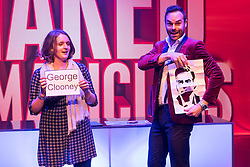 © Licensed to London News Pictures. 01/09/2016. Guest and MIKE TYLER perform their show THE NAKED MAGICIANS at Trafalgar Studios. London, UK. Photo credit: Ray Tang/LNP