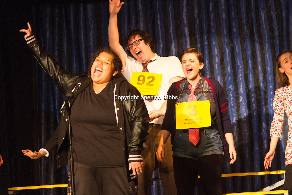 The Hyde Park Community Players performed the comedy musical, &ldquo;The 25th Annual Putnam County Spelling Bee&rdquo; this weekend at the University Church located at 57th and Greenwood.<br /> <br /> 2030 &ndash; Shonte Wesson as Ms. Michaela M. Mahoney<br /> <br /> Please 'Like' &quot;Spencer Bibbs Photography&quot; on Facebook.<br /> <br /> All rights to this photo are owned by Spencer Bibbs of Spencer Bibbs Photography and may only be used in any way shape or form, whole or in part with written permission by the owner of the photo, Spencer Bibbs.<br /> <br /> For all of your photography needs, please contact Spencer Bibbs at 773-895-4744. I can also be reached in the following ways:<br /> <br /> Website &ndash; www.spbdigitalconcepts.photoshelter.com<br /> <br /> Text - Text &ldquo;Spencer Bibbs&rdquo; to 72727<br /> <br /> Email &ndash; spencerbibbsphotography@yahoo.com