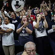 STORRS, CONNECTICUT- NOVEMBER 17: UConn fans cheering their team during their win in the UConn Huskies Vs Baylor Bears NCAA Women's Basketball game at Gampel Pavilion, on November 17th, 2016 in Storrs, Connecticut. (Photo by Tim Clayton/Corbis via Getty Images)