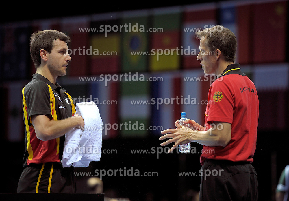 Olympic Games London 2012, Table Tennis Team.Timo Boll (GER) and Trainer Jšoerg Rosskopf (GER) .© pixathlon