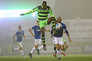 Forest Green Rovers Shamir Mullings(18) controls the ball during the Vanarama National League match between Forest Green Rovers and Dover Athletic at the New Lawn, Forest Green, United Kingdom on 17 December 2016. Photo by Shane Healey.