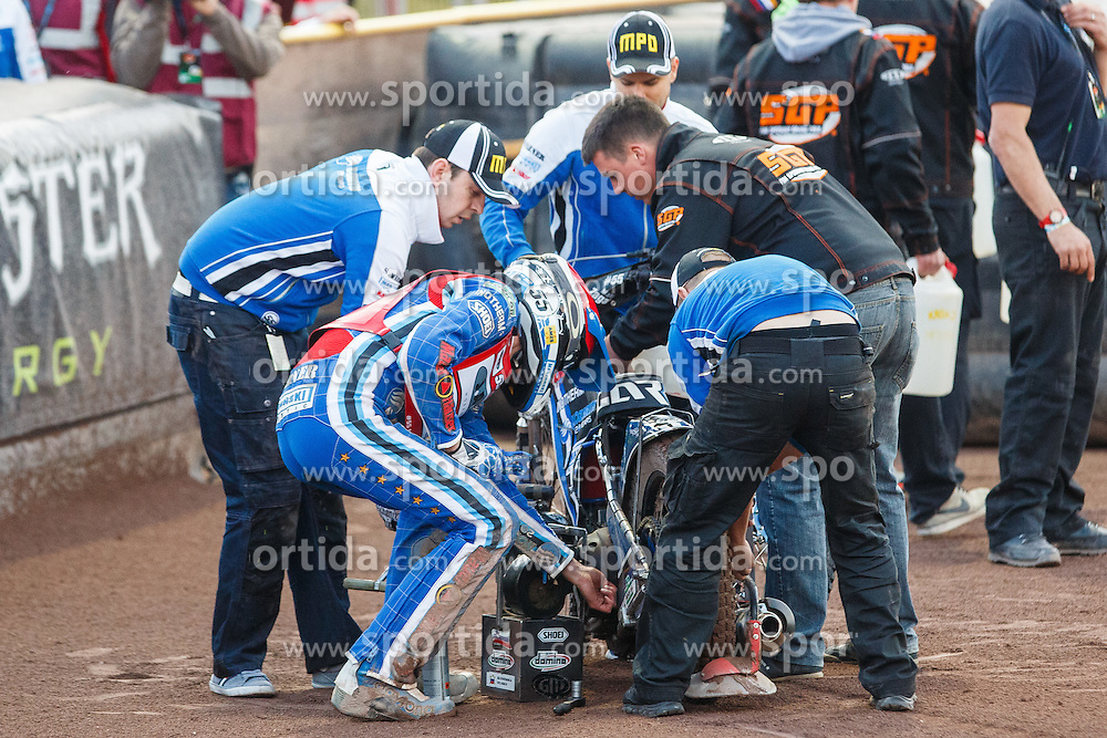 MATEJ ZAGAR of Slovenia and his team during FIM Speedway Grand Prix World Cup, Krsko, on 30. April, 2016, in Sports park Krsko, Slovenia. Photo by Grega Valancic / Sportida