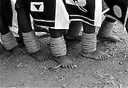 "IPLM0008 , South Africa, Venda, June 2001. Young ""maidens"" take part in the Domba dance. The domba is part of an initiation process, some already have children though traditionally they are meant to be virgins."