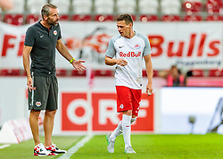 19.07.2017, Red Bull Arena, Salzburg, AUT, UEFA CL, FC Salzburg vs Hibernians FC, Qualifikation, 2. Runde, Rückspiel, im Bild Trainer Marco Rose (FC Red Bull Salzburg), Christoph Leitgeb (FC Red Bull Salzburg) // during the UEFA Championsleague Qualifier 2nd round, 2nd leg match between FC Salzburg and Hibernians FC at the Red Bull Arena in Salzburg, Austria on 2017/07/19. EXPA Pictures © 2017, PhotoCredit: EXPA/ JFK