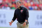 Tampa Bay Buccaneers head coach Greg Schiano during the Buccaneers 41-28 win over the Atlanta Falcons at Raymond James Stadium on Nov. 17, 2013 in Tampa, Florida. <br /> <br /> &copy; 2013 Scott A. Miller
