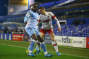 Ben Wiles of Rotherham United (8) weaves his way past a defender during the EFL Sky Bet League 1 match between Coventry City and Rotherham United at the Trillion Trophy Stadium, Birmingham, England on 25 February 2020.
