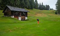 SEEFELD Tirol   Oostenrijk,  -  hole 12.  Golfclub Seefeld Wildmoos.    COPYRIGHT KOEN SUYK