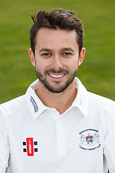 Jack Taylor of Gloucestershire Cricket poses for a headshot in the County Championship kit - Mandatory byline: Rogan Thomson/JMP - 04/04/2016 - CRICKET - Bristol County Ground - Bristol, England - Gloucestershire County Cricket Club Media Day.