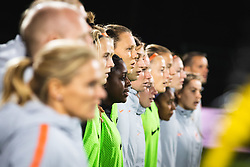 Bench of Nederland during anthem before football match between Slovenia and Nederland in qualifying Round of Woman's qualifying for EURO 2021, on October 5, 2019 in Mestni stadion Fazanerija, Murska Sobota, Slovenia. Photo by Blaž Weindorfer / Sportida