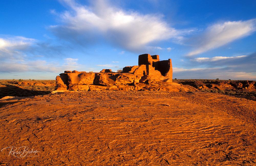 Morning light on Wukoki Ruin, Wupatki National Monument, Arizona USA