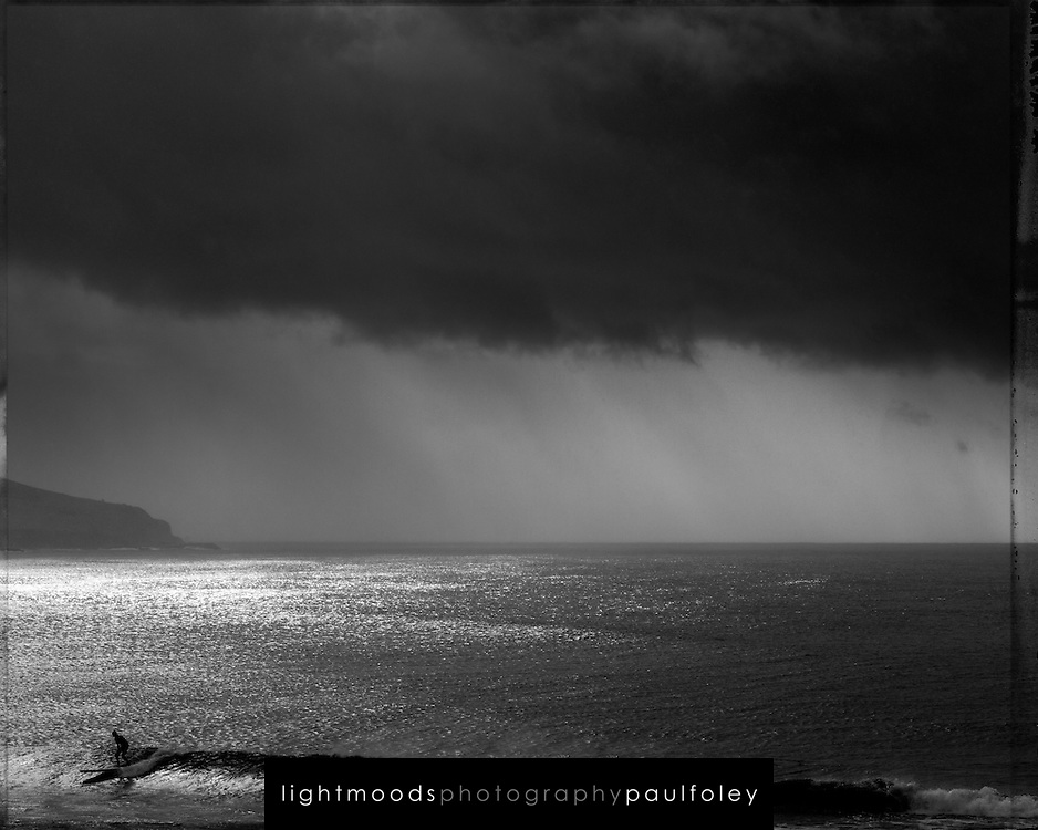 Longboard surfer, Gerringong, NSW, Australia