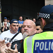 Far-right at Parliament, London, UK. July 14 2018.