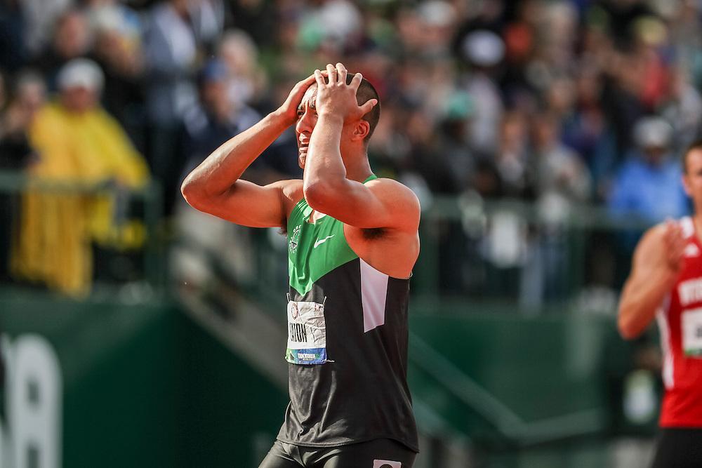 Ashton Eaton, Decathlon, after setting world record at USA Olympic Trials©