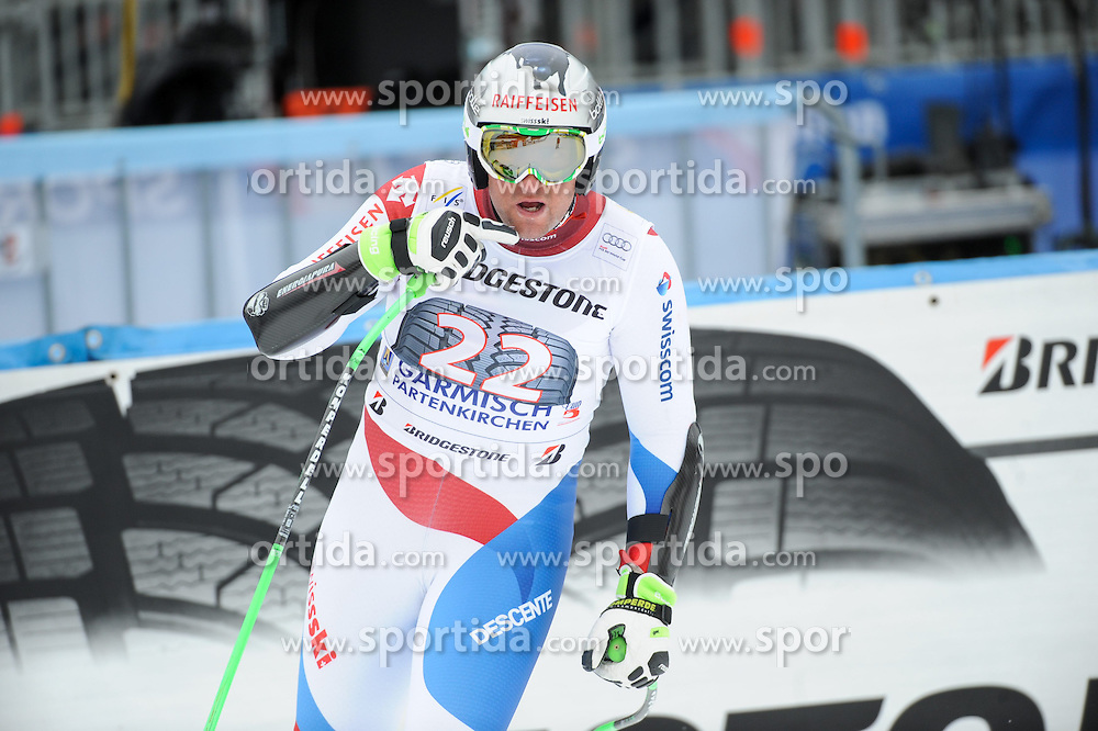 27.02.2015, Kandahar, Garmisch Partenkirchen, GER, FIS Weltcup Ski Alpin, Abfahrt, Herren, 2. Training, im Bild Silvan Zurbriggen of Switzerland // during the 2nd trainings run for the men's Downhill of the FIS Ski Alpine World Cup at the Kandahar in Garmisch Partenkirchen, Germany on 2015/02/27. EXPA Pictures © 2015, PhotoCredit: EXPA/ Erich Spiess