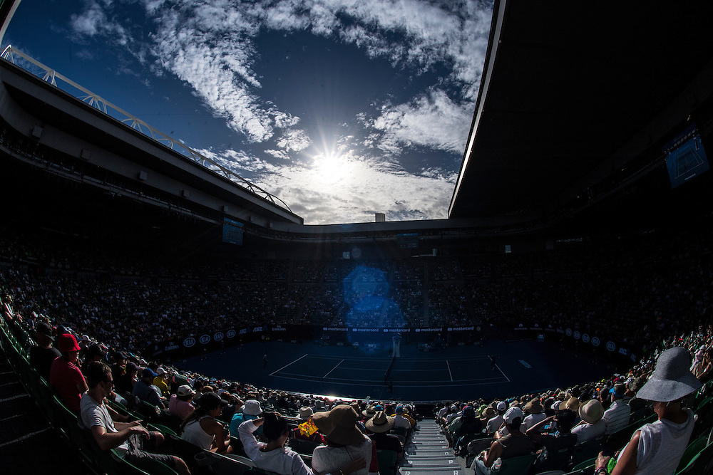 A general view of Rod Laver Arena on day four of the 2017 Australian Open at Melbourne Park on January 19, 2017 in Melbourne, Australia.<br /> (Ben Solomon/Tennis Australia)