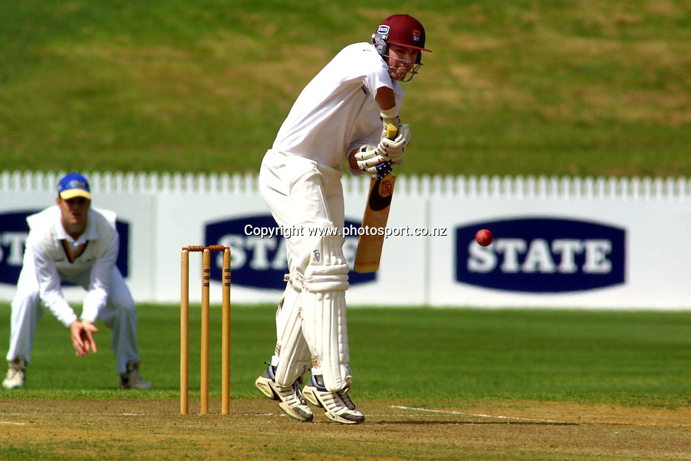 Grant Robinson bats during the State Championship cricket match between Otago and Northern Districts, 18 March, 2002 at Wetspac Park, Hamilton, New Zealand. Photo: Chris Skelton/PHOTOSPORT<br /><br /><br /><br />045249