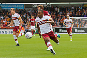 Bradford City forward Dominic Poleon on the attack during the EFL Sky Bet League 1 match between Northampton Town and Bradford City at Sixfields Stadium, Northampton, England on 23 September 2017. Photo by Aaron  Lupton.