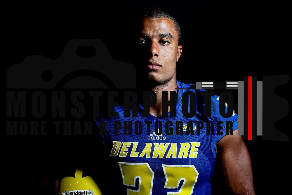 Photo of Delaware Running back Jalen Randolph (33) taken Sunday, August 14, 2016, at Delaware Field House Facility on the campus of the university of Delaware in Newark.