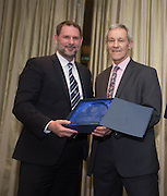 Dundee FC directors John Nelms  with Ally Donaldson as the former goalkeeper is inducted into Dundee FC Hall of Fame 2016 - at the Invercarse Hotel<br /> <br />  - &copy; David Young - www.davidyoungphoto.co.uk - email: davidyoungphoto@gmail.com