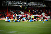 Reading FC warm up before kick off during the EFL Sky Bet Championship match between Brentford and Reading at Griffin Park, London, England on 16 September 2017. Photo by Andy Walter.