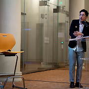 SEPTEMBER 26, 2017---MIAMI, FLORIDA---<br /> Alejandro Haiek from Lab Pro Fab in Venezuela, during presentation. This was part of the Miami Dade College series, By the People.<br /> (Photo by Angel Valentin/Freelance).