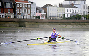London, United Kingdom. Jessica EDDIE,  sculling along Dukes Meadows,  2009  Women's Wingfield Sculls, Raced over the Championship Course,  Putney to Mortlake, Thursday  05/11/2009 [Mandatory Credit Peter Spurrier/ Intersport Images]