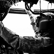 1LT Aaron Wolcott, C Co. 3/2 GSAB conducts a hit check prior to assuming 1st Up MEDEVAC Duty
