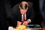 Major League Baseball Commissioner Bud Selig at.The John McLendon Minority Athletics Administrators Awards Luncheon at Cleveland State University, December 14, 2007.