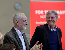 Pictured: Jeremy Corbyn and Richard Leonard.<br /> <br /> Labour leader Jeremy Corbyn travelled to Scotland to attend a festive lunch for homeless charities and volunteers in Edinburgh on Sunday, along with Scottish Labour leader Richard Leonard.<br /> <br /> &copy; Dave Johnston / EEm