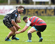 Pontypridd's Huw Dowden<br /> Cross Keys v Pontypridd RFC<br /> <br /> Photographer Mike Jones / Replay Images<br /> Pandy Park, Cross Keys.<br /> Wales - 12th May 2018.<br /> <br /> Cross Keys v Pontypridd RFC<br /> Principality Premiership<br /> <br /> World Copyright © Replay Images . All rights reserved. info@replayimages.co.uk - http://replayimages.co.uk