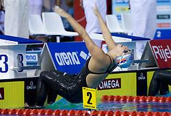 Anja Carman of Slovenia swims  in the women's 200m backstroke final race at day 4 of LEN European Short Course Swimming Championships Rijeka 2008, on December 14, 2008,  in Kantrida pool, Rijeka, Croatia. (Photo by Vid Ponikvar / Sportida)